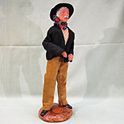 On Hold, Do Not Purchase....French Santon de Provence Clay Male Figure Doll