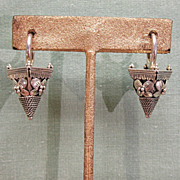 Heavy Sterling Silver Earrings Navajo Joe Corbet