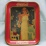 Coca Cola Tray Madge Evans 1939