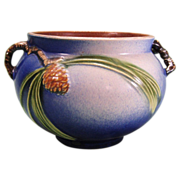 Roseville Blue Pinecone Small Jardiniere 632-4