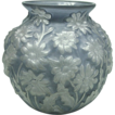 Phoenix Glass Blue Puffy Daisy Large Bowl Vase