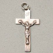 Old Sterling Silver Crucifix