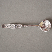Tiffany & Co Master Salt Spoon Vine and Wild Rose