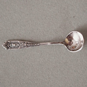 Wallace Rose Point Sterling Silver Salt Spoon