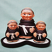 SALE Goebel Friar Tuck Monk Condiment Set Full B Tmk 2