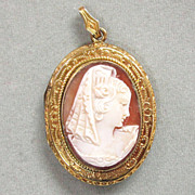Vintage Gold Filled Cameo Locket