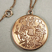 Late Victorian Gold Filled Locket BM Co