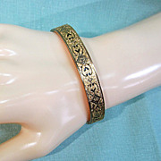 Dunn Brothers Taille d'epargne Gold Filled Hinged Bracelet
