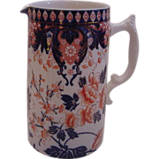 SALE English Staffordshire Imari Pitcher