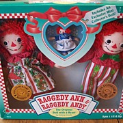 Raggedy Ann & Raggedy Andy Doll Mint In Box