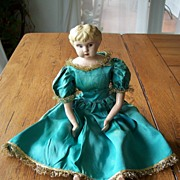 German Tin Head Minerva Doll