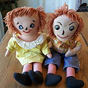 Early  Raggedy Ann And Andy Dolls