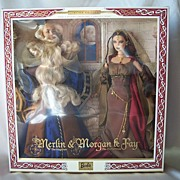 Ken & Barbie As Merlin & Morgan Le Fay Mattel Giftset