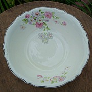 Homer Laughlin China Virginia Fluffy Rose Serving Bowl