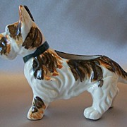 Ceramic Scotty Dog Pin Cushion Holder Japan