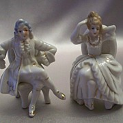 Japan Victorian Style Man And Woman Figurine