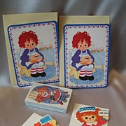 Raggedy Ann Playing Valentine and Gift Cards