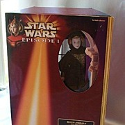 Star Wars Queen Amidala  Doll In Black Travel Gown