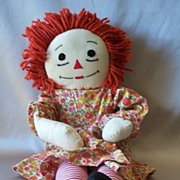 Vintage Hand Made Raggedy Ann Cloth Doll