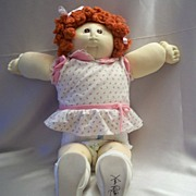 Soft Sculpture Cabbage Patch Doll Xavier Roberts 1985