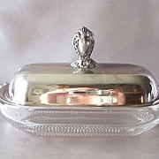 Duncan & Miller Tear Drop Butter Dish