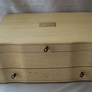 Vintage Eureka Flatware Blonde Chest Box