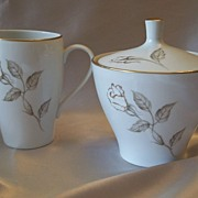 House Of Elegance Golden Rose  Sugar and Creamer