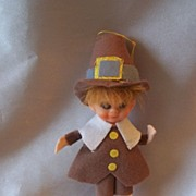 Vintage Thanksgiving Pilgrim Pixie Boy
