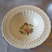 Vernon Ware Metlox Fruit Basket Serving Bowl