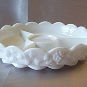 Westmoreland Milk Glass Relish Dish