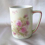 Hand Painted Porcelain Mug By Marian Orem