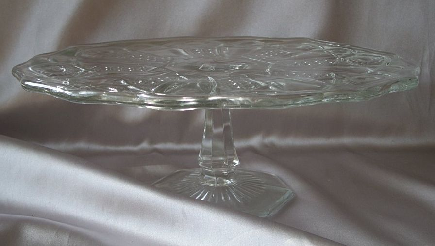 Vintage Crystal Cake Stand Quot Sophia Collection Quot Antique