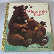 Little Golden Book Where Is The Bear
