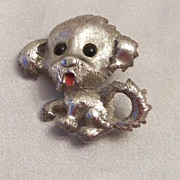 Beautiful Monet Puppy Dog  Pin