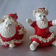 Vintage Santa Claus Salt And Pepper Shaker