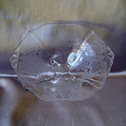 Cambridge Glass Grape Etch Dish