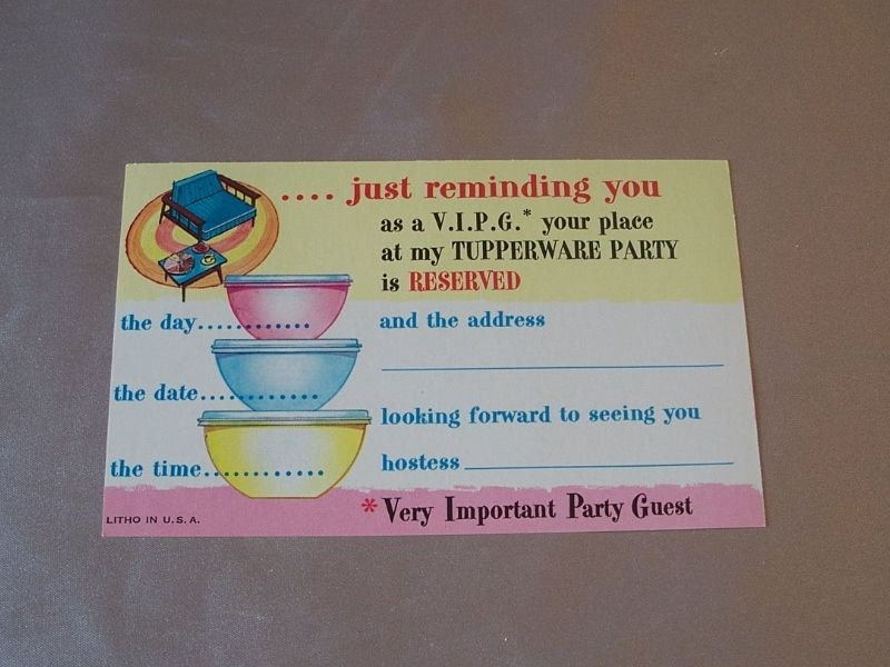 tupperware party invites - Ideal.vistalist.co