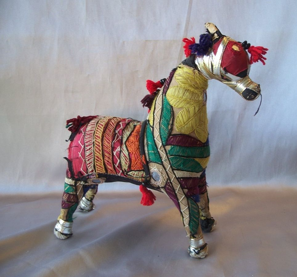 Decorated Fabric Horse From India