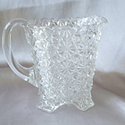 Button and Bows Crystal Pitcher