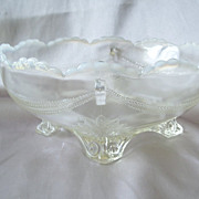 Jefferson Glass Swag with Brackets Opalescent Bowl