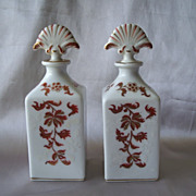 Two Ceramic Irice Vanity Bottles