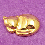 Signed Sleeping Kitty Cat ~ Kitten Pin by Liz Claiborne