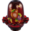 Fenton Glass Ruby Fairy Light Gilded Harvest Design