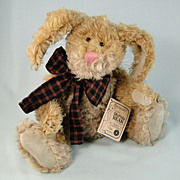 Boyds Mohair Bunny Martha Bunnycombe & Plush Catalog & Pin