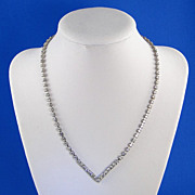 Vintage Rhinestone Necklace Classic V-Style