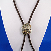 Vintage Bolo Tie Pyrite Cluster Slide