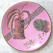 "Exotic Antique PB & S (Powell, Bishop & Stonier) ""Paragon"" Display Plate, 1880"