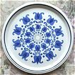 Vintage Mikasa Large 12 3/8&quot; Blue & White Platter, Tulip Windmill