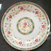 "SALE Noritake-Nippon 10"" Plate, ""The Oriental"", Multi-Color Florals, 1920s"
