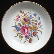 SALE Royal Worcester Trinket Dish, Colorful Florals, 1982